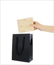 紙袋【小】W170×H230×D85mm 色:紺、エンジ、白