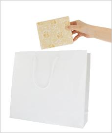 紙袋【大】W330×H300×D100mm 色:紺、エンジ、白