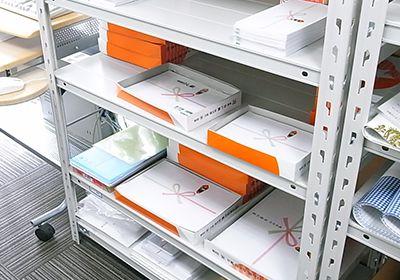 箱及びのし紙、各サイズ陳列